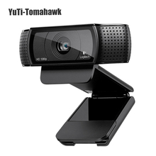 Hd-videokonferenzkamera 100% Logitech Pro C920 HD Webcam 1080 p Video-aufnahme Webcam, 15 Millionen Pixel mit kleinpaket