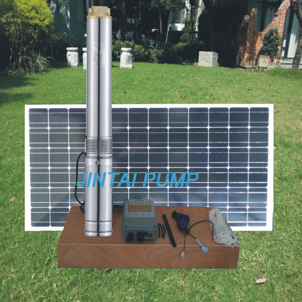 2 years warranty 36V 320watts Solar water pump, solar borehole pump system, dc pump for deep well, Model No.:JC3-3.6-33 50mm 2 inch deep well submersible water pump deep well water pump 220v screw submersible water pump for home 2 inch well pump