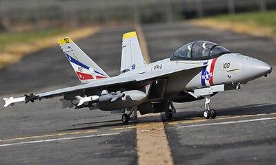Scale SkyFlight LX Gray EPS Metal Twin 70MM EDF F18 Bounty Hunter RTF RC Airplane W/ Brushless Motor Servos ESC Battery