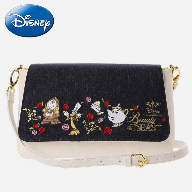 Disney New Fashion Genuine Beauty And Beast Tote Bags Wallet Belle Princess Handbag Girls Cartoon Shoulder Crossbody-Bag Gifts