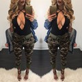 Высочайшее качество высокий дизайн 2016 полная длина сексуальные брюки высокая талия камуфляж брюки сексуальные дамы печати брюки