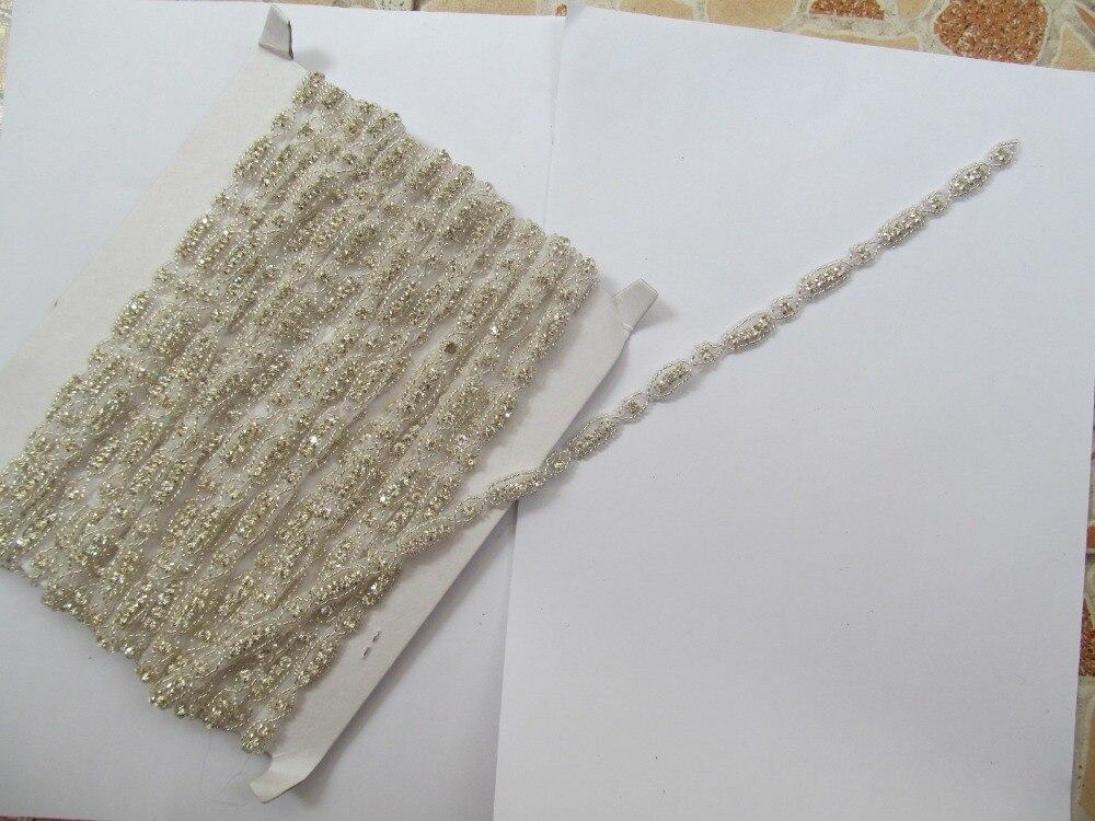 Envío Gratis 2014 nuevo hecho a mano fine rhinestone lujo diamante  beltsrhinestones para la costura del vestido de boda rhinestones d33ecbbf08d