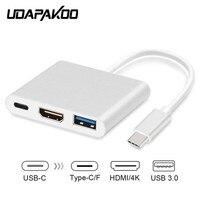 Type C To HDMI USB 3 0 Charging Converter USB C 3 1 Digital AV Multiport