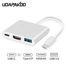 Type C To HDMI USB 3.0 Charging Converter USB-C 3.1 Digital AV Multiport Adapter For New MacBook Air Pro Mac Samsung S8+ Plus