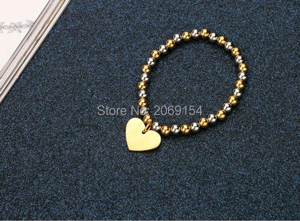 Bead Bracelets Wholesale Lot Fashion Stainless Steel Wrap Bracelet For Women Classic Charm Gold Jewelry Vintage Cuff Bangle 2