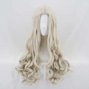 Image 2 - Alice in Wonderland 2 White Queen Cosplay Wig Blonde Wavy Long Synthetic Hair Heat Resistance Fiber Halloween Party Costume Wigs