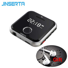 Wholesale prices JINSERTA Mini Clip Sport Mp3 Player Multiformat Music Players Voice Recorder Durable MP3 player HIFI mp3 Player USB Charging