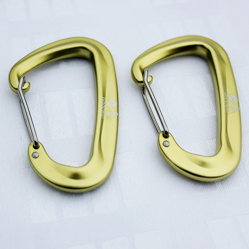 HOT!Metal 1Pcs Aluminum Alloy D Shape Rings Carabiner Screw Lock Bottle Hook Buckle Hanging Padlock Key Chain Camping Hiking ryder anodizing aluminum alloy screw lock carabiner blue 8mm