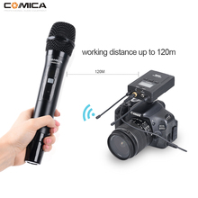 COMICA CVM-WM200B/D Wireless Metal UHF 96-channels Mono/Stereo Lavalier Interview Microphone 120m smooth recording without stacc
