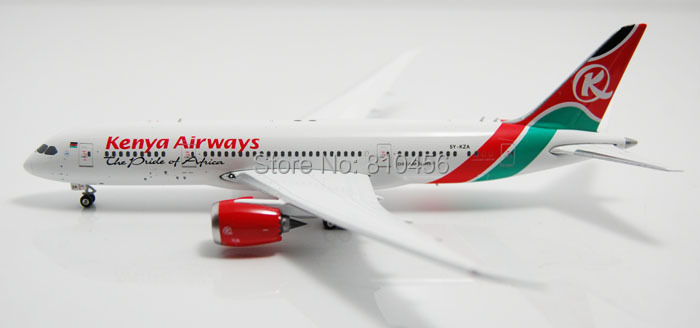 Free Shipping!1:400 Phoenix Kenya Airways B787 plane model