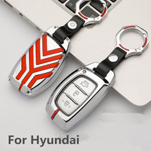 New Zinc alloy key case car key cover for Hyundai i10 i20 i30 HB20 IX25 IX35 IX45 high quality smart key Car styling цена 2017