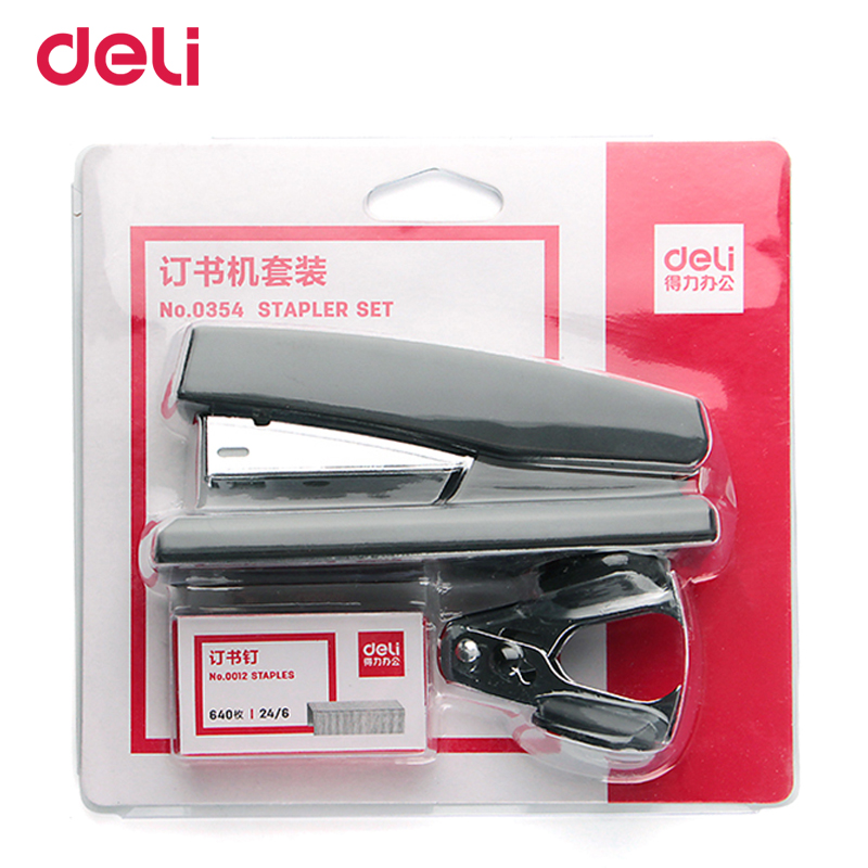 Deli quality office normal paper stapler with 640pcs 24/6 staples mini cute staple remover set for school stationery supply giftDeli quality office normal paper stapler with 640pcs 24/6 staples mini cute staple remover set for school stationery supply gift