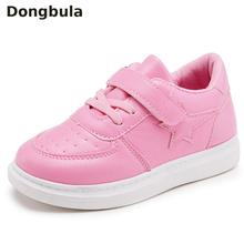 Kids Shoes For Girls Sneakers Pu Leather Baby Toddler Casual Boys Running Breath