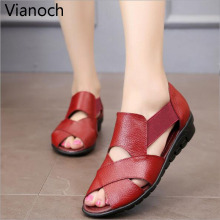 Fashion New Women Flats Casual Summer Sandals Peep Toe Shoes Woman Size 40 41 42 wo19001