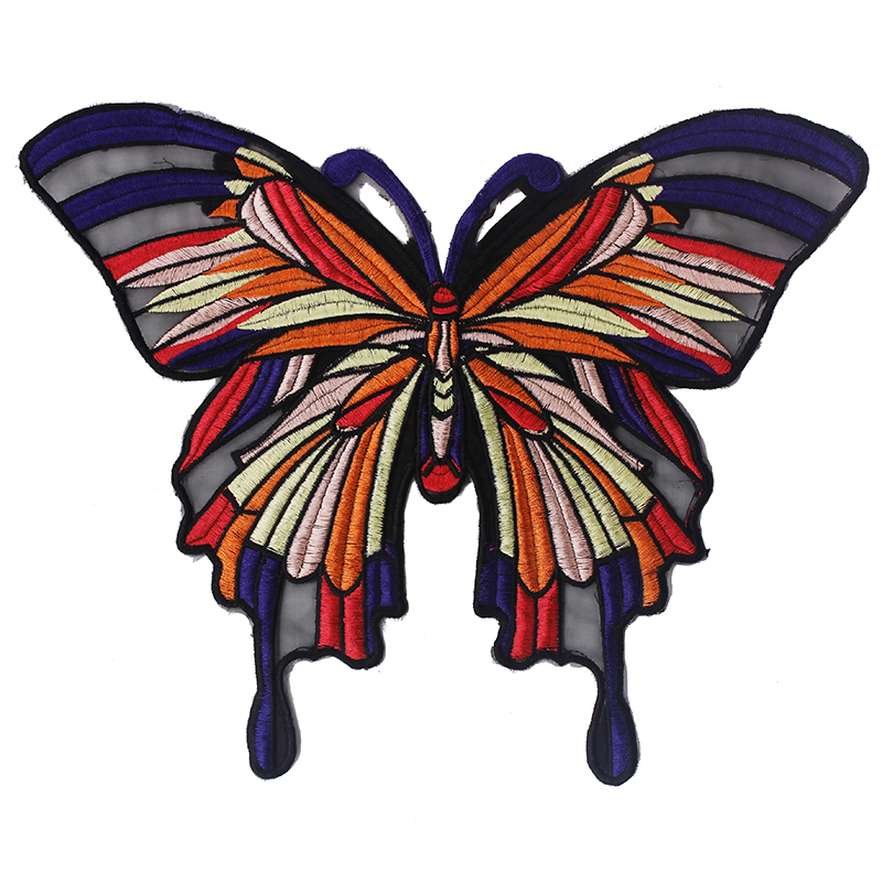Pieces colorful butterfly design clothes patches