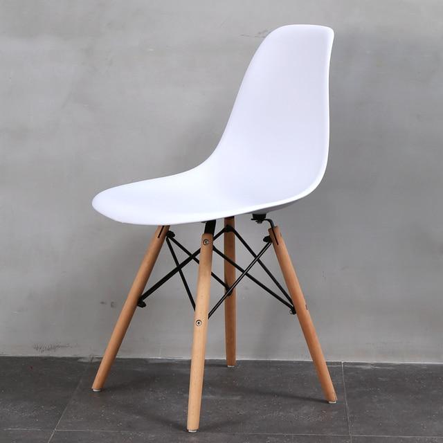 Design Moderne Cote Salle A Manger Chaise Avec Solide Bois Jambe En
