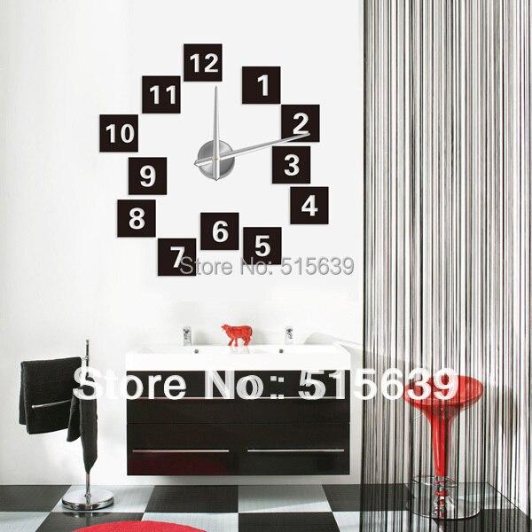 DIY creativo diseño moderno reloj de pared sin marco decoración del ...