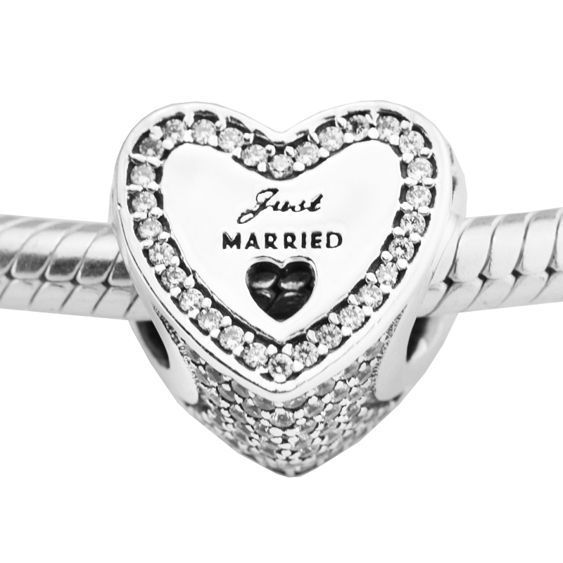 Pandora Jewelry Free Shipping: Fits For Pandora Charms Bracelets Wedding Heart Beads 100