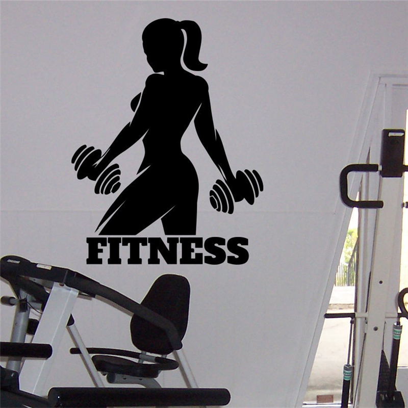 Gym Athletic Wall Mural Woman Fitness Sport Home Art Interior Design Ideas