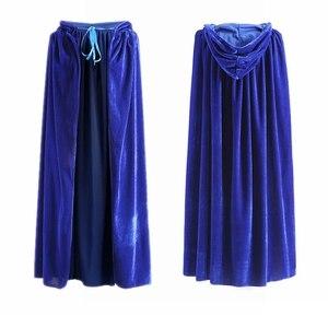 Image 4 - ผู้ใหญ่เสื้อคลุมยาวกำมะหยี่RobeสีเขียวสีดำสีแดงฮาโลวีนCarnival Purim Medievalแม่มดWiccaแวมไพร์