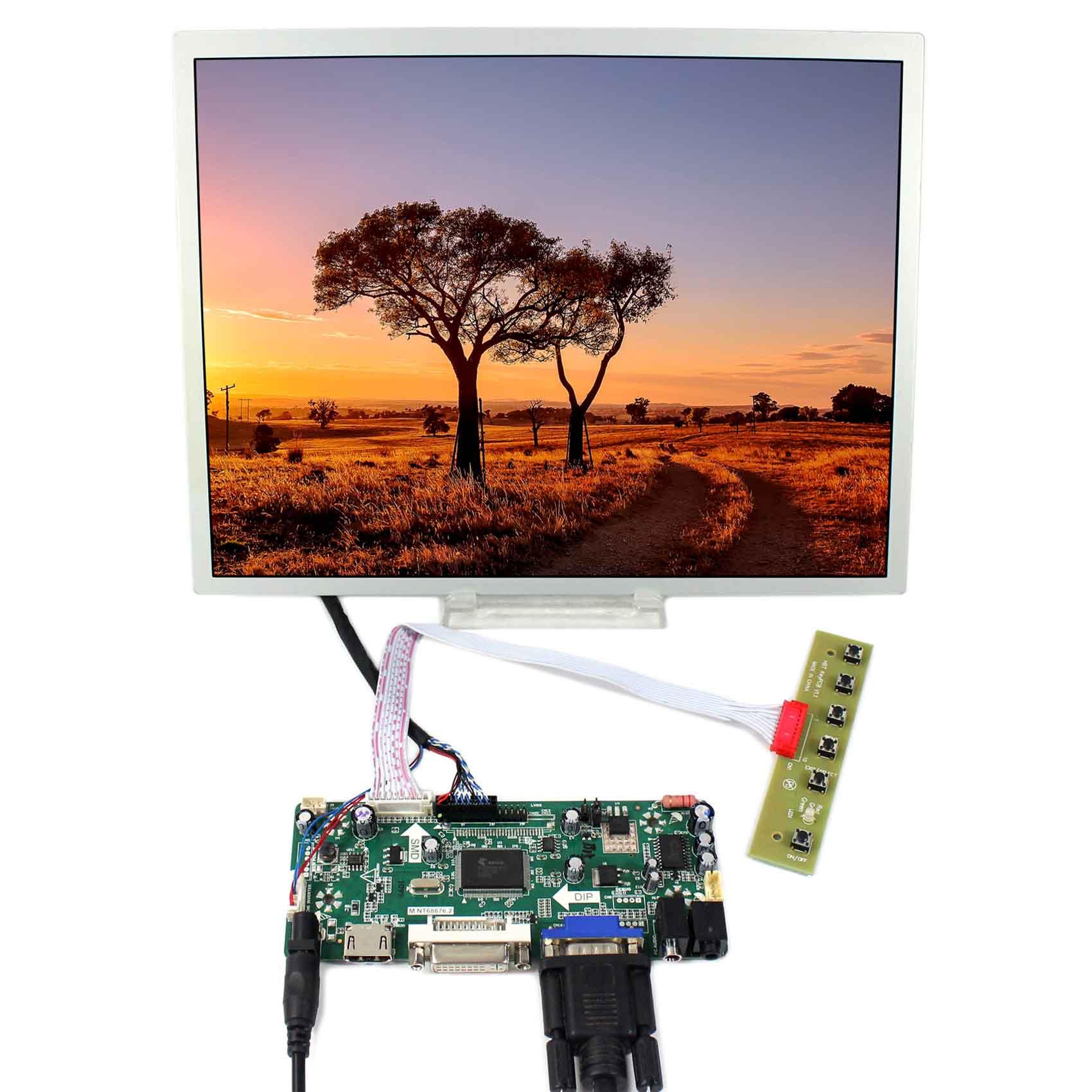 12.1inch LQ121S1LG75 800x600 LCD Screen+HDMI DVI VGA Audio LCD Controller Board M.NT6867612.1inch LQ121S1LG75 800x600 LCD Screen+HDMI DVI VGA Audio LCD Controller Board M.NT68676