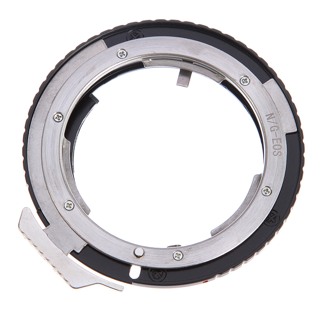 AF Confirm Chip Lens Adapter Ring for Nikon AI G Lens to Canon EOS 5D III II 6D 7D 70D Cameras