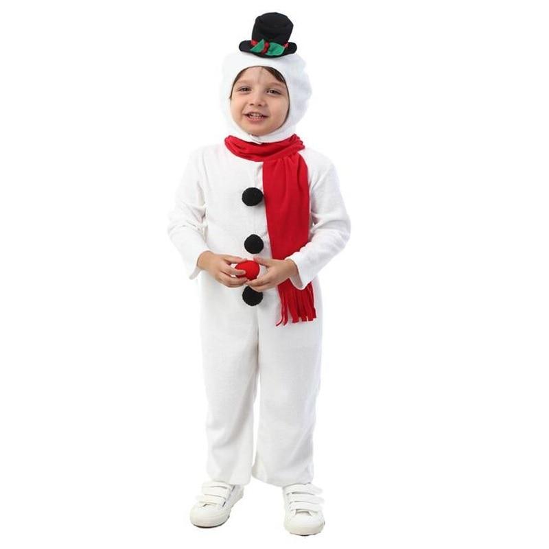 hot sale halloween snowman children jumpsuit cosplay costume boys white christmas costume cute snowman costumes for girls in boys costumes from novelty - White Christmas Costumes