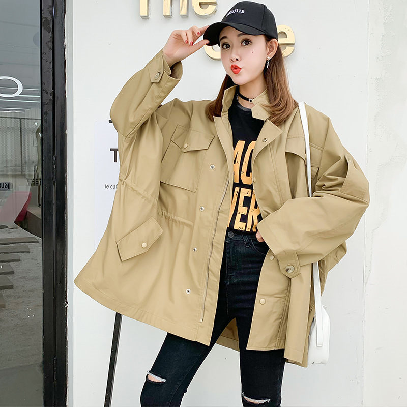 2019 Spring Autumn New Loose Casual   Trench   Coats Women's Long Plus Size Single-breasted Outerwear Girls Tops n780