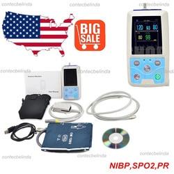 Pm50 monitor paciente portátil sinais vitais nibp spo2 pr medidor de taxa de pulso mais novo
