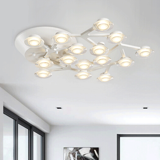 Modern LED pendant lights fixtures for kitchen design lamps for dining room living room art deco lamp acrylic lampshade ring tiffany mediterranean dining room pendant lamps european style simple triple staircase modern living room lamp pendant lights