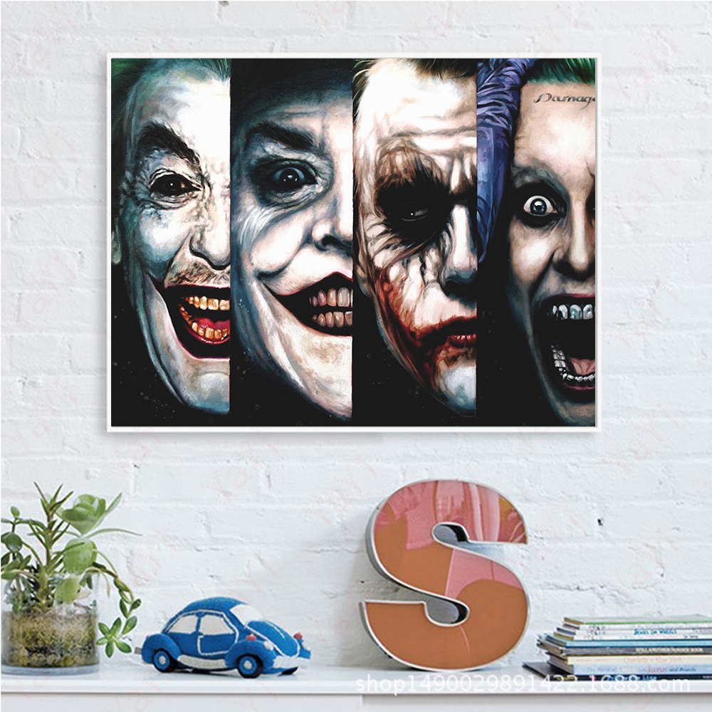 Us 5 99 Joker Canvas Painting Pop Art Movie Silk Print Poster Wall Pictures For Living Room Wall Painting Unframed In Painting Calligraphy From
