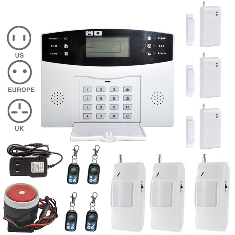 New Burglar Alarm System LCD Wireless GSM Auto Sensor Motion Home Security Kits Door Window Gap Detector LCC77 wireless motion door sensor detector 3 remote control home security burglar alarm system more stable than gsm alarm system