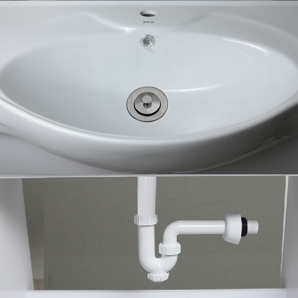 Talea Bathroom Sink Waste Kit Basin Strainer With Drain Hose Bath Filter Plastic Flexible Flume Pipe In Strainers From Home Improvement On