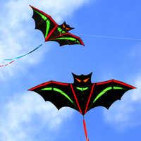Envío Gratis cometa de murciélago de alta calidad con línea de mango de juguete volador al aire libre de nylon ripstops niños cometa surf pulpo cometa nueva fábrica