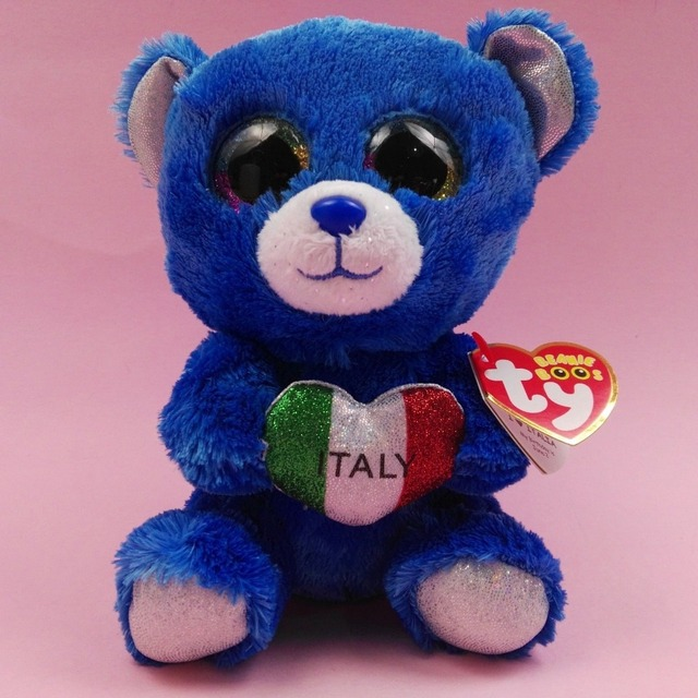 2018 Ty Beanie Boo S Romeo The Italy Blue Bear Brand New With Hang