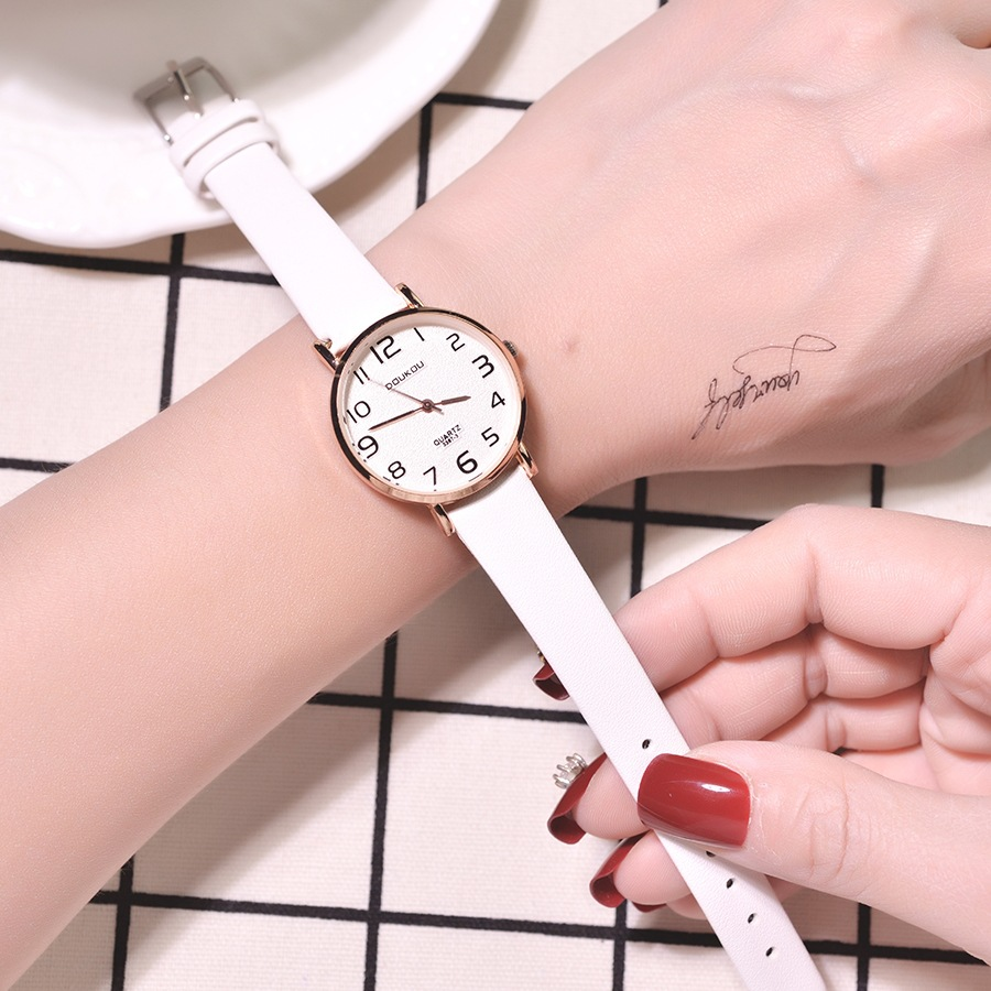 Ultra-Thin Fashion Women Quartz Leather Watches 2019 Luxury Brand Casual Ladies Wrist Watch Simple Number Female Clock Hours