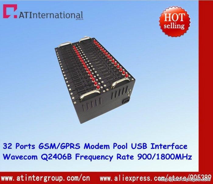 Wavecom Q2406B 32 Ports GSM GPRS Modem Pool USB Interface