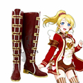 Anime Love Live! Valentine's Day Awaken Red High Boots Cosplay Halloween Christmas Party Shoes Custom Made