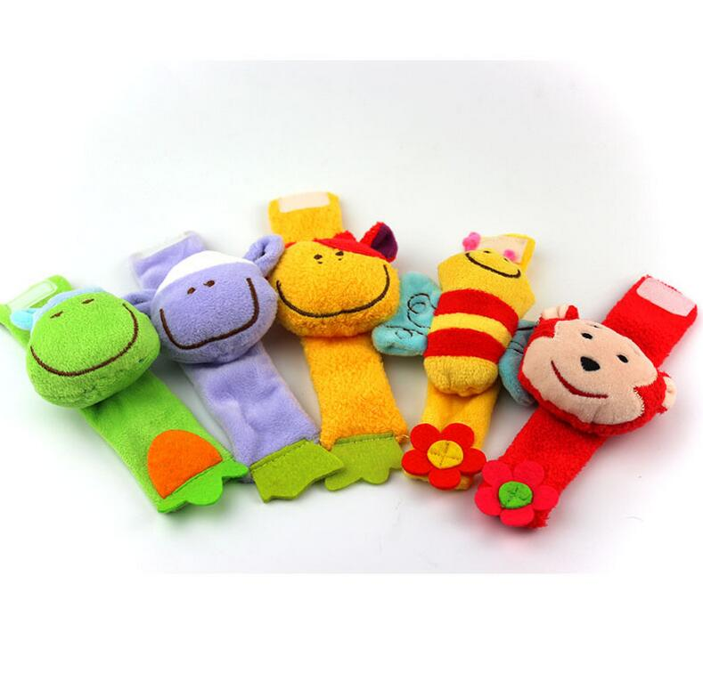Baby Wrist Rattle Toy Animal Educational Strap Toys Plush Handbells Rattle Animal type for gift 40