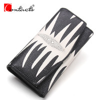 Contact S New Arrival Genuine Leather Women Wallet Ladies Long Wallets Casual Folded Coin Purses Day