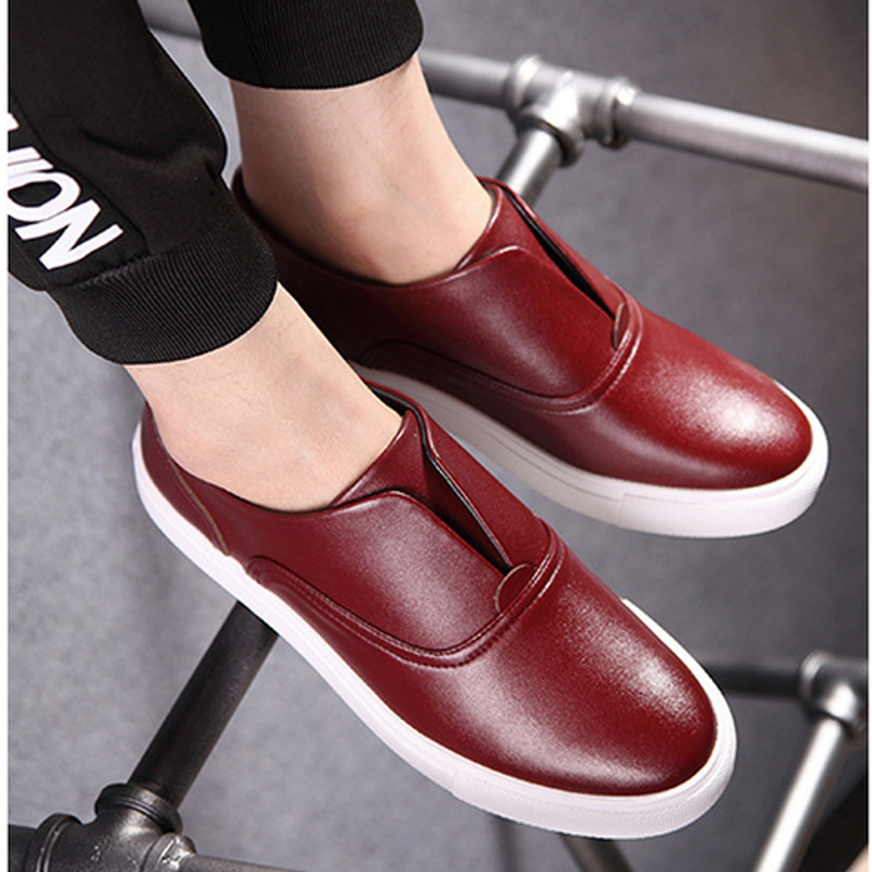 Breathable Flats Casual Board Shoes Men Loafers Slip-On Genuine Real leather Man's Fashion Brand New Cut-outs Plus size dxkzmcm new men flats cow genuine leather slip on casual shoes men loafers moccasins sapatos men oxfords