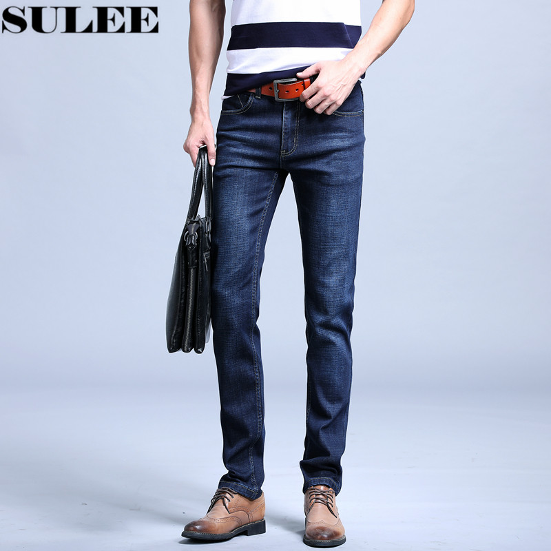 SULEE Brand 2017 Summer New Stretch Cotton Breathable Fit Jeans Men Thin Summer Men's Denim Jeans Long Pants Lightweight Jeans sulee brand 2017 new fashion business men jeans cotton denim jeans casual straight washed pants stretch jeans plus size 28 40