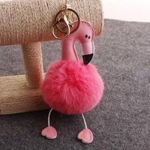 Pompom Flamingo Sleutelhanger Telefoon Auto Zak Valentijnsdag Gift Bruiloft Decoratie Auto Nieuwjaar Verjaardag Geschenken Vriend Party Gunsten