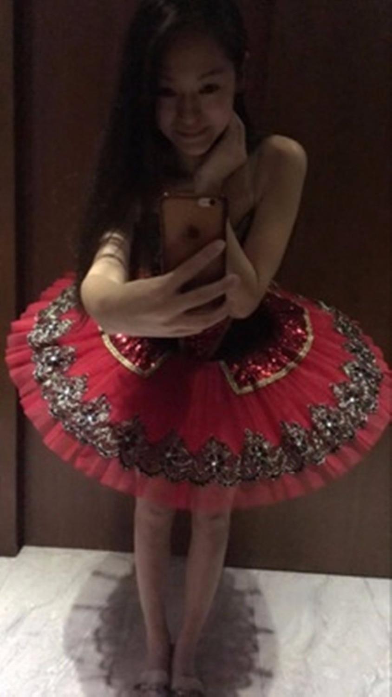 Sequin Classical Ballet tutus Red Adult Ballerina Dance clothing for girls Kids Swan Ballet Tutu for
