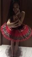 Sequin Classical Ballet Tutus Red Adult Ballerina Dance Clothing For Girls Kids Swan Ballet Tutu