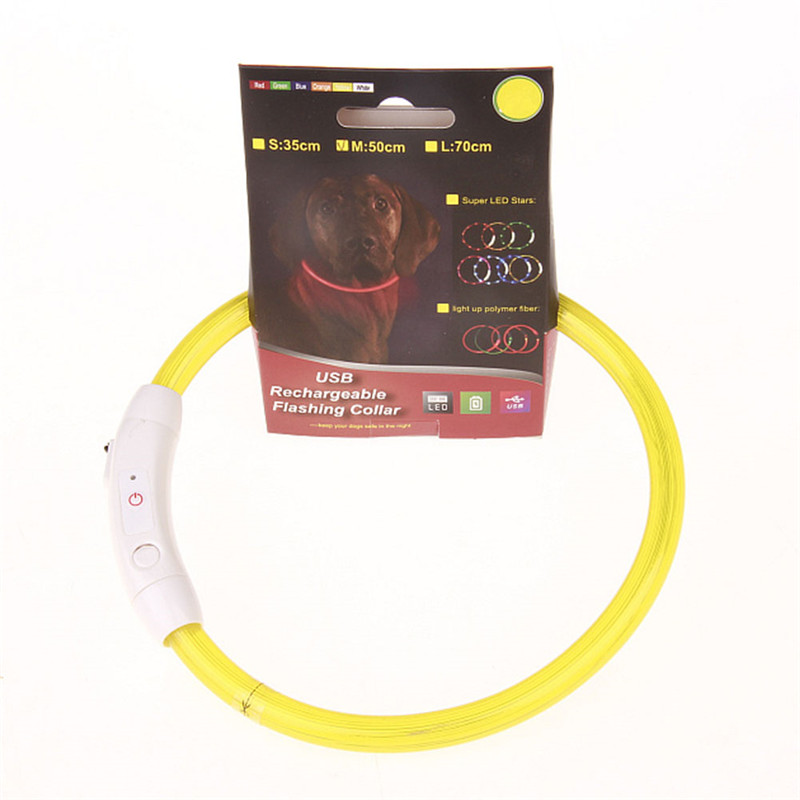 Genopladelig valpkrave USB-LED Blinkende Light Band Bæltsikkerhed - Pet produkter - Foto 3