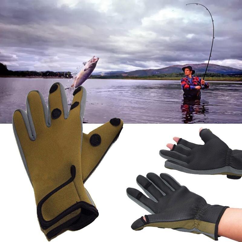 Plongée Pêche Gants Antichoc Étanche Anti Slip Chaud Coupe-Vent En Plein Air