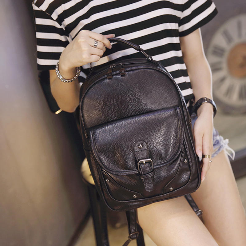 AETOO Autumn and winter new Korean fashion wave shoulder bag female wild ladies bag school college wind leisure travel backpack free shipping 2015 new famous designer brand fashion leisure cavans school college wind backpack eiffel tower pattern