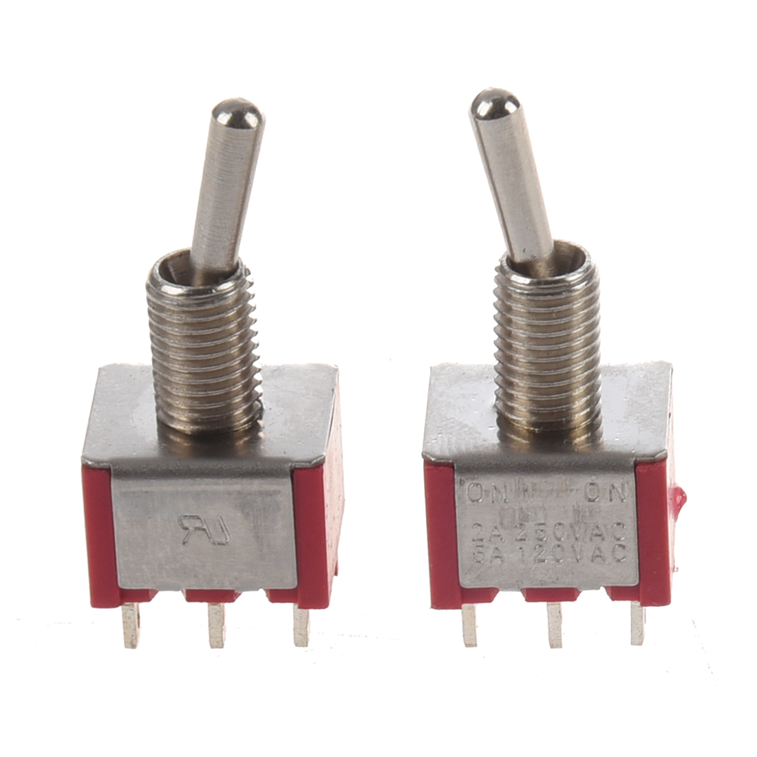 SODIAL(R) 2 Pcs ON/ON 2 Position Double Pole Double Throw Toggle Switch