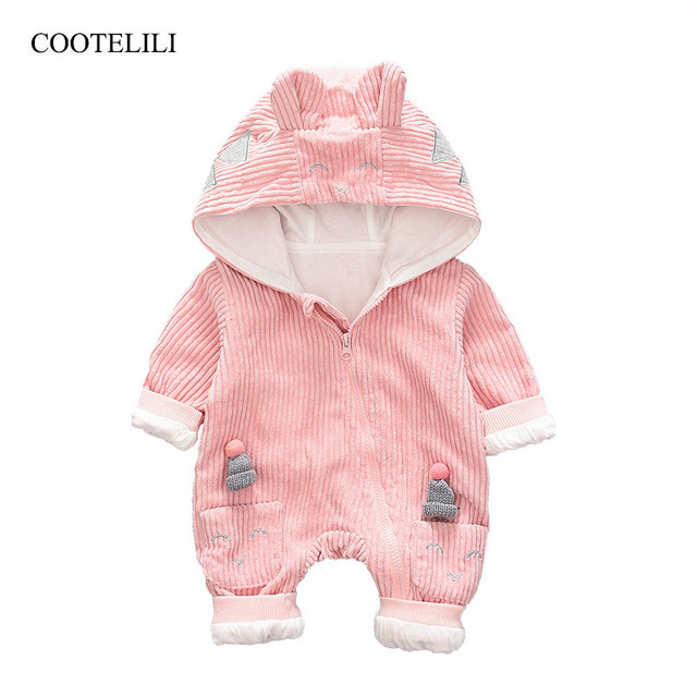 41f13d4dd COOTELILI Autumn Spring New Born Baby Girls Winter Clothes Fleece ...